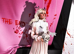 "🌹She Always Wore A Pink Rose🌹- {MONSO] ""Hwee Hair"" @ KUSTOM 9 -ZENITH Witch Dress Rare @ Kustom 9 (SherriOhCherri) Tags: monso zenith kustom9 zibska catwa maitreya halloween skull spooky epiphany astralia bloody macabre blogger secondlife sl secondlifefashionblogger gacha rare mossmink"