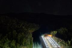 Fontana Dam 6 of 17 (Mr. Low Notes) Tags: 70d tva fontana dam fontanadam outdoors dusk dark night nightshot nightphotography power electricity electric nc mountains water sky stars