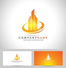 Real Estate Logo (royaldexigns) Tags: abstract advertising background brand branding business card circle company concept corporate creative design elements graphic icon illustration modern pictogram shape style symbol template realestate realestatelogo buildings scrapers skyscrapers