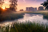 Lyveden (colinb4) Tags: lyveden sunrise northants nationaltrust river mist