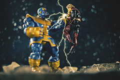 You forget with whom you speak! (3rd-Rate Photography) Tags: adamwarlock thanos marvel marvellegends fight toy toyphotography actionfigure canon 50mm 5dmarkiii jacksonville florida 3rdratephotography earlware marvelselect