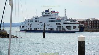 Ferry at Gunwharf Quay next to Portsmouth Historic Dockyard, Victory Gate, HM Naval Base, Portsmouth PO1 3LJ,  England.