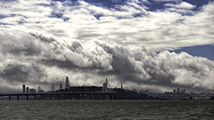 Ominous Clouds Over SF (LifeLover4) Tags: baybridge sanfrancisco treasureisland salesforce skyline bay clouds cloudscape