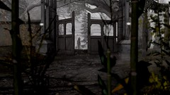 Coming to the corn (Myra Wildmist) Tags: secondlife sl myrawildmist virtualphotography virtualart transitional halloween corn scary witch wiccan wicca gate spooky