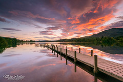 Coniston ... (Mike Ridley.) Tags: coniston lakeconiston conistonwater conistonjetty monkjetty nature sunset water reflections redsky jetty sonya7r2 sonyfe1635f4 nisilandscapepolariser nisiv5filterholder leefilters mikeridley