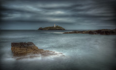 Stones Reef (Godrevy) (Nickerzzzzz - Thanks for stopping by :)) Tags: ©nickudy nickerzzzzz theartofphotography wwwdigittaliacom canoneos5dmarkiii ef1635mmf4lisusm sky colour photograph clouds landscape seascape water ocean sunrise beach coast sea rocks lighthouse le longexposure godrevy stonesreef cornwall stivesbay
