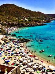 Masua, Iglesias, Sardinia, Italy. (Massimo Virgilio - Metapolitica) Tags: people summer sun sea beach nature italy sardinia iglesias masua