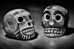 Halloween and MacroMondays (Angelo Petrozza) Tags: catrina mexico messico halloween blackandwhite biancoenero bw macromondays macro halloweenandmacromondays