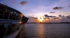 Sunset, Leaving Fort Lauderdale. LumixDMC-TZ70. P1040694. (Robert.Pittman) Tags: panasonic lumix dmctz70 sunset port water sea ocean sky ship boat cruiseship aiiureoftheseas royalcaribbean fortlauderdale florida usa