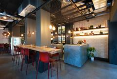 _DSC2044 (fdpdesign) Tags: pizzamaria pizzeria genova viacecchi foce italia italy design nikon d800 d200 furniture shopdesign industrial lampade arredo arredamento legno ferro abete tavoli sedie locali