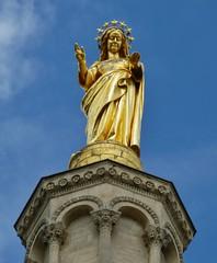 Notre Dame des Doms - Avignon (Aurél) Tags: notre dame des doms avignon france statue or gold