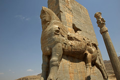 217. Lamassu (Bull With Head Of Bearded Man), Gate Of All Nations, Persepolis, Fars Province, Iran (Jay Ramji's Travels) Tags: ruins persepolis iran middleeast farsprovince carving achaemenidempire marvdasht ancient persiancity persia pārsa takhtejamshid chehelmenar chilminar gateofallnations lamassu ancientcity