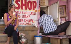 Rajasthan - Jaisalmer - Bhang lassi shop people-5