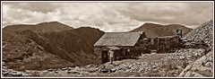 See.....pia (stu.bloggs..Dont do Sundays) Tags: sepia mrsbloggs bothy dubsbothy quarry slate mineworkings haystacks pillar highcrag highstile mountains mountain fells rocks rockyoutcrops views scenic scenery lakedistrict landscape lakeland cumbria buildings mountainhut