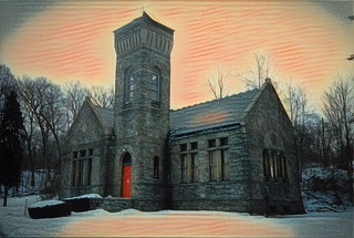 Syracuse New York - Oakwood Cemetery -  Abandoned  Chapel
