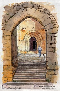 St Amand de Coly fortification et porche