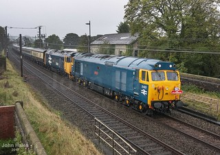 50007 and 50049 at Bay Horse on 07 Oct 17