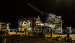 Ferguson Marine Construction (Half A Century Of Photography) Tags: ferguson marine construction ship building design portglasgow crane night lights pentax pentaxkr pentaxdal