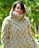 Heavy cabled fisherman wool sweater (Mytwist) Tags: beige hand knitted wool sweater cable non mohair turtleneck by extravagantza knitwear sweatergirl woman girl sexy female turtlemeck rollneck rollkragen style fashion fetish knitting retro classic fisherman craft cozy bulky love passion pulli raglan design