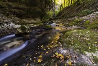 Caramanico - Il torrente in Autunno