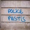 "#Manif10octobre #Nantes #GameOfTags: ""POLICE PASTIS"" (ValK.) Tags: gameoftags loitravailxxl pjlterrorisme loitravail cabanedupeuple etatdurgencepermanant maisondupeuple nantes politique valk demonstration fonctionpublique graff graffiti greve intersyndicale manifestationunitaire social tag france fr"