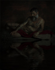 Narciso. (jcalveraphotography) Tags: selfportrait selfie serie studio water portrait photo photographer projects people picture renaissance recreated 365 explore 365days darkness painting fin art artofvisual artistic