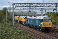 50008 Queensville Curve 09/10/2017 (Brad Joyce 37) Tags: 50008 56303 class50 class56 4z03 train freight diesel locomotive heritage engine queensvillecurve staffordshire nikon d7100