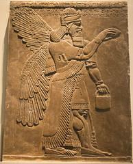 Assyrian God with a Handbag (ir0ny) Tags: london britishmuseum museum british uk history middleeast assyrian god ashurbanipal