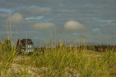 Beach House (Bud in Wells, Maine) Tags: maine wells wellsbeach autumn buildings clouds grass dunegrass