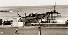 """21 June 1927 - """"VIEW OF COOGEE PIER, SYDNEY"""", New South Wales, Australia (restored version)"""