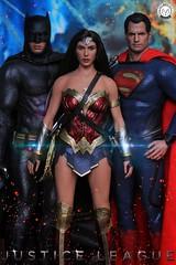 DC Trinity- Batman, Superman and Wonder Woman (PrinceMatiyo) Tags: 2017 justiceleague dccomics dc toyphotography onesixthscale hottoys henrycavill benaffleck galgadot superman batman wonderwoman