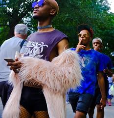 """Attitude"" (tvdflickr) Tags: georgia atlanta atlantageorgia pride parade gay gayprideparade2017 man male men walking marching street streets boa feather featheredboa necklace sunglasses shades attitude"