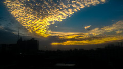 a day ends with glory (Mijan Rashid) Tags: asia asian asus sky southasia sun sunnyday canon clouds cloud cloudy city bangladesh goldenhour golden cellphone mobile phone photography zenphone blue bluesky dhaka