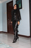 Leather Dream (johnerly03) Tags: erly philippines filipina asian long leather dress high heel boots hair shiny