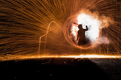 RMS_9435-2 (rsheill) Tags: 102017 photo explorers light painting workshop lightpainting steelwool steelwoolburningsteelwool abandoned smokegrenadephotography silhouette ricksheill
