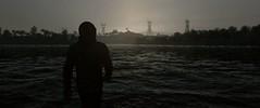 silhouette (Brandon ProjectZ) Tags: watchdogs ubisoft overcast windy rain sea water wave sun trees biker silhouette