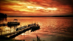 Cloudly Morning Sunrise (Farmernudie) Tags: lake color boats fishing cell lgg4