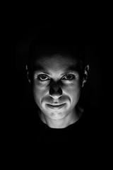 Spooky Low Key (Nicholas Erwin) Tags: lowkey selfportrait selfie me nicholaserwin nickerwin portrait creepy halloween people person man male human lowkeylighting face blackandwhite monochrome bw nikon d610 nikkor 5018g fav10 fav25
