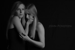 Pure Twins (etsie74) Tags: twins girls teen young pure soft black white hands emotion love family bnw hair pose models light studio