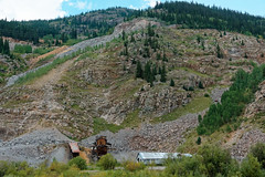 There are numerous old mines in the Silverton area R1004405 Durango & Silverton RR (Recliner) Tags: baldwin dsng drg