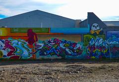 Humpty Dumpty Sat on a Wall (Steve Taylor (Photography)) Tags: humptydumpty art graffiti streetart colourful newzealand nz southisland canterbury christchurch bald dtrcrew saga humptydumptysatonawall