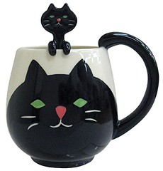 Cat Mug and Spoon (mywowstuff) Tags: gift idea guide gadget family home