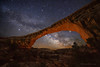 "Milky Way with Natural Bridge (IronRodArt - Royce Bair (""Star Shooter"")) Tags: owachomobridge milkyway stars starrynight starrynightsky naturalbridgesnationalmonument utah naturalbridge nightphotography nightscape"