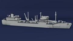 Oiler (Lego Pilot) Tags: lego ldd blender boat ship oiler usscimmaron