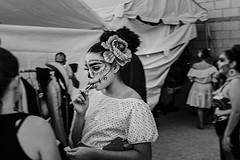 dod 09852 (m.r. nelson) Tags: dayofthedead diadelosmuertosmesa az arizona southwest usa mrnelson marknelson markinaz blackwhite bw monochrome blackandwhite bwartphotography portraits peopledíadelosmuertosfestivalmesa2017