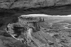 Mesa Arch B&W, Canyonlands National Park (benereshefsky) Tags: blackandwhite bw blackwhite mesaarch canyonlands nationalpark nationalparks moab southwest unitedstates usa travelphotography travel travelphotographer landscape rock rockformation arch nature naturalbeauty sony