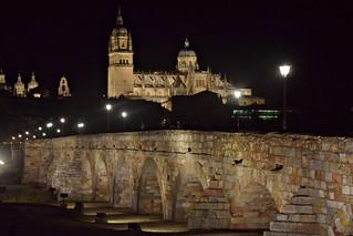 Salamanca en la noche