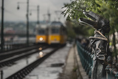 After the rain (Vagelis Pikoulas) Tags: rain bokeh budapest pest light lights travel tram reflection reflections statue canon 6d hungary tamron 70200mm focus city