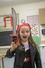 Luna Day 1444 (evaxebra) Tags: luna school class classroom kid pirate arrrr bandana sword skull crossbones
