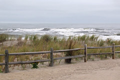 Partly Cloudy (tmattioni) Tags: boardwalk newjersey oceancity dunes fog hff hss 7dwf monday